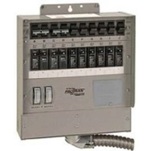 4. 510C Pro/Tran2 50-Amp 10-Circuit 2 Manual Transfer Switch with Watt Meters