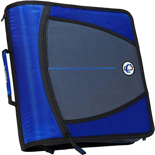 3. Case-it Mighty Zip Tab 3-Inch Zipper Binder, Blue, D-146-BLU