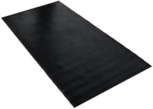 4. BDK GMT330 Black 8' x 4' Flex Tough Garage Thick Heavy Duty Rubber Floor Mat/Protector