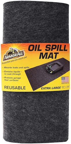 6. DrymateArmor All Oil Spill Mat, Absorbent/Waterproof Garage Floor Protector, Reusable/Durable
