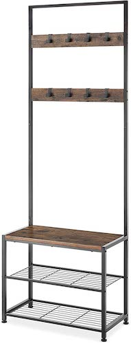7.Whitmor Modern Industrial Entry Way Tower/Bench