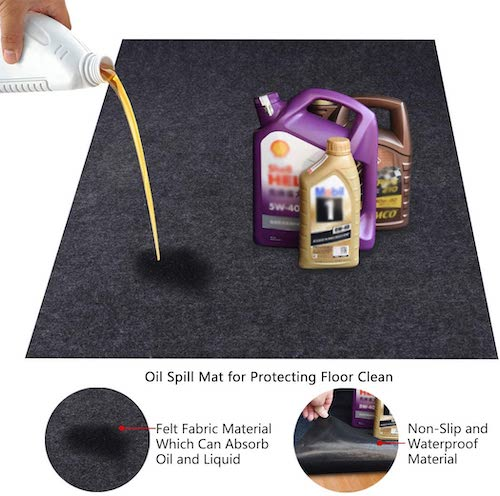 10. KALASONEER Oil Spill Mat, Absorbent Oil Mat Reusable Washable