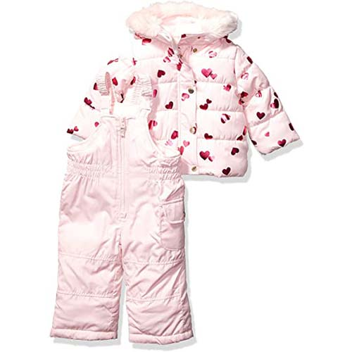 4. Carter's Baby Girls Heavyweight Jacket and Pants Snowsuit