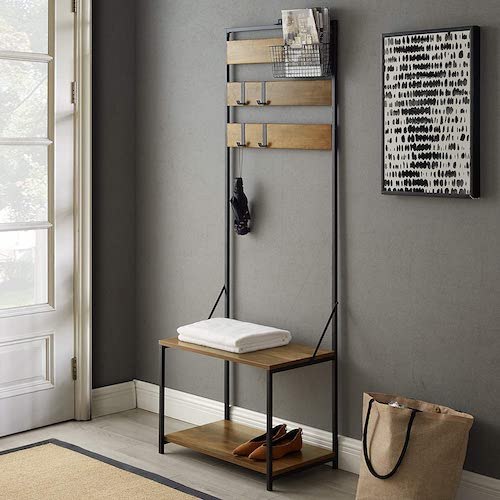 Top 10 Best Entryway Benches with Coat Rack in 2021 Reviews