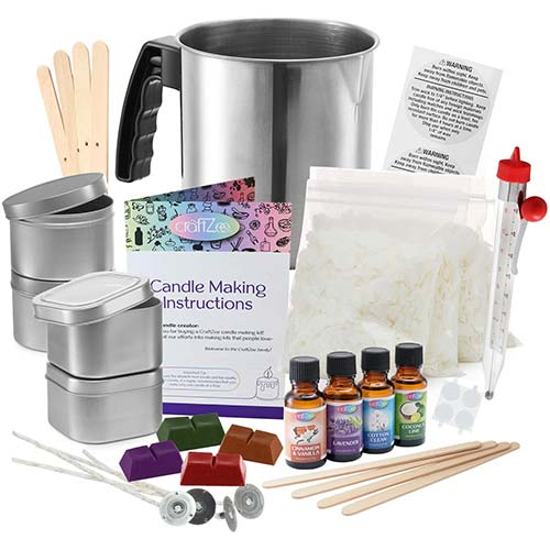 1. Complete DIY Candle Making Kit Supplies by CraftZee – Create Large Scented Soy Candles – Full Beginners Set