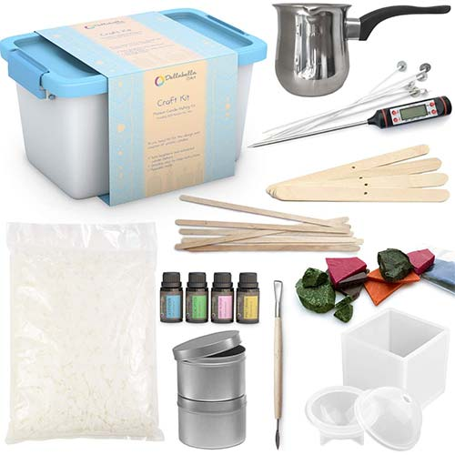 5. Candle Making Kit – Wax and Accessory DIY Set for Making of Scented Candles