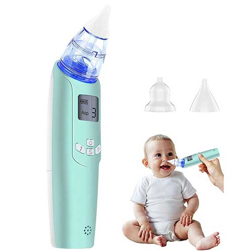 1. Baby Nasal Aspirator - Electric Nose Suction for Baby - Automatic Booger Sucker