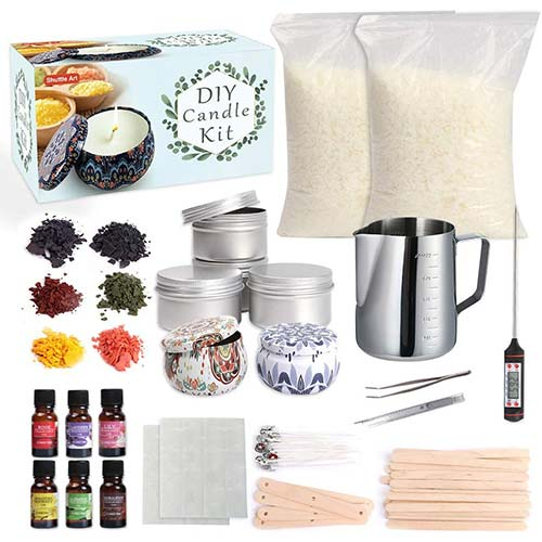 9. Candle Making Kit Supplies, Shuttle Art Candle Making Kit for Adult, Complete DIY Beginners Set