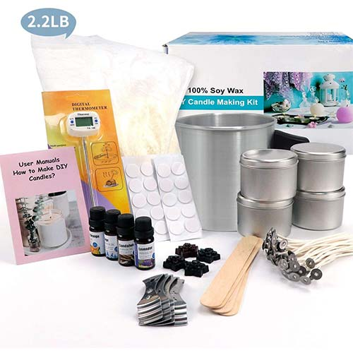 2. Candle Making Kit – Easy to Make Colored Candle