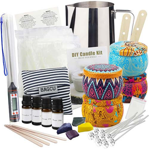 10. Candle Making Supplies DIY Candle Making Kit, Beeswax Arts and Crafts for Adults Gift Set
