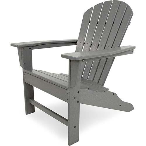 7. POLYWOOD SBA15GY South Beach Adirondack Chair