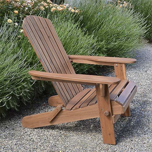 4. Plant Theatre Adirondack Folding Hardwood Chair