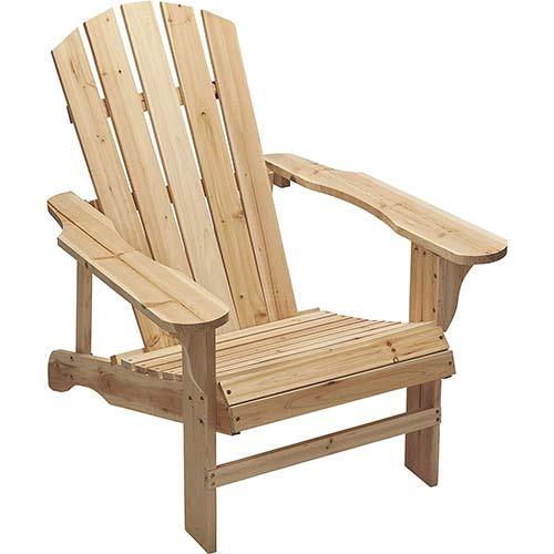 9. Leigh Country Fir Unpainted Adirondack Chair