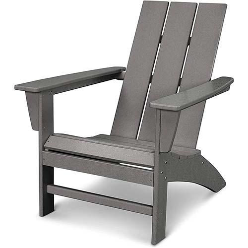 2. POLYWOOD AD420GY Modern Adirondack Chair