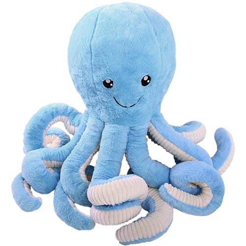 8. DENTRUN Octopus Stuffed Animals, Octopus Plush Doll Play Toys for Kids Girls Boys