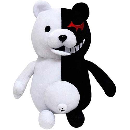 9. TIMSOPHIA Kids Black White Bear Plush Doll Monokuma Bear 36cm for Kids Birthday Child Pillow Toy Home Decor Adornment