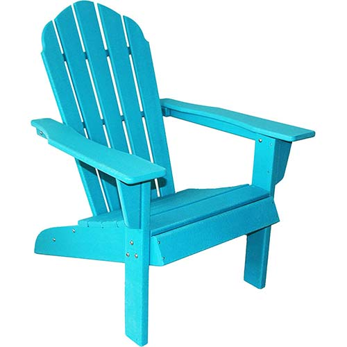 8. ResinTEAK HDPE Poly Lumber Adirondack Chair, Sand Grey | Adult-Size, Weather Resistant