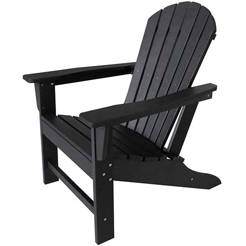 6. DAILYLIFE Plastic/Resin Classic Outdoor Adirondack Chair Polystyrene Weatherproof Lounge Chair