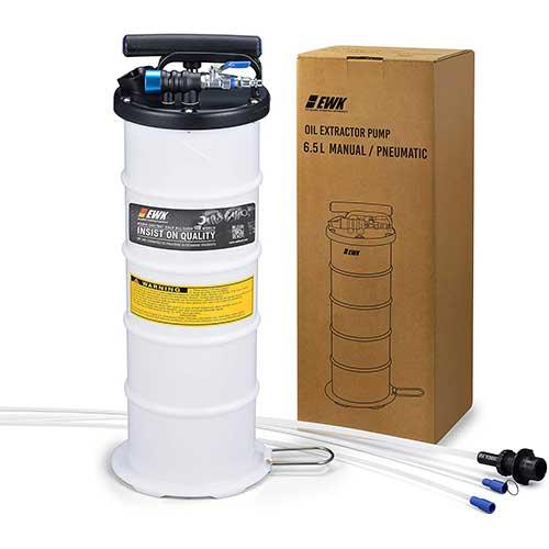 2. EWK 6.5L Oil Extractor Pump Pneumatic Fluid Evacuator Vacuum Extraction Pump Manual Fluid Extractor