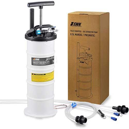 4. EWK Plus Version 6.5L Oil Extractor Pump Pneumatic Fluid Evacuator Vacuum Extraction Pump Manual Fluid Extractor + Brake Bleeder Hose