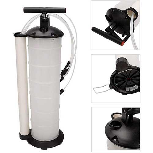 10. SUPERFASTRACING Oil Fluid Extractor 7L Manual Vacuum Fuel Petrol Pump Transfer Syphon Suction