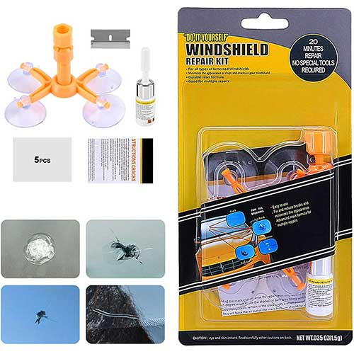 6. XUELI Windshield Repair Kit, Car Windshield Repair Kit