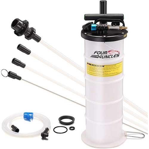 6. FOUR UNCLES Oil Changer Vacuum Fluid Extractor Pneumatic/Manual 6.5 Liter