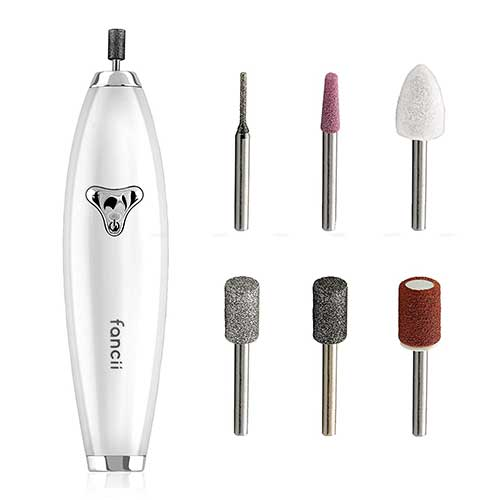 8. Fancii Professional Manicure & Pedicure Nail Drill System with Magnetic Case, Rechargeable - Cordless At-Home Nail File Kit
