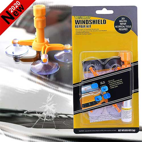 7. FILBAKE 2020 New Windshield Repair Kit, DIY Car Windshield Repair Kit Quick Fix for Fix Windshield Auto Glass