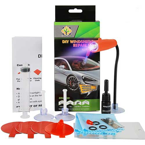 2. 2020 New DIY Windshield Repair Kit, with UV Curing Light, Fast Repair, Car Glass Repair Tool Set