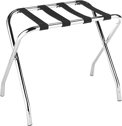 2. Whitmor Chrome Luggage Rack - Foldable - Commercial Quality