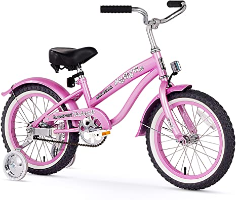 4. Firmstrong Girl's Bella Bicycle with Training Wheels