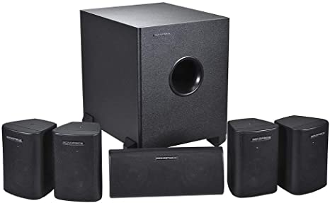 1.Monoprice 5.1 Channel Home Theater Satellite Speakers And Subwoofer
