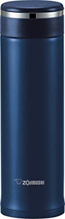 7. Zojirushi SM-JTE46AD Stainless Steel Travel Mug with Tea Leaf Filter, 16-Ounce, Deep Blue