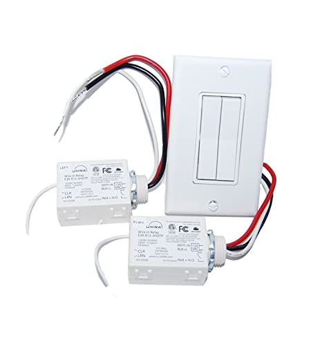 6. Wireless Light Switch Kit - Dual Rocker Switch