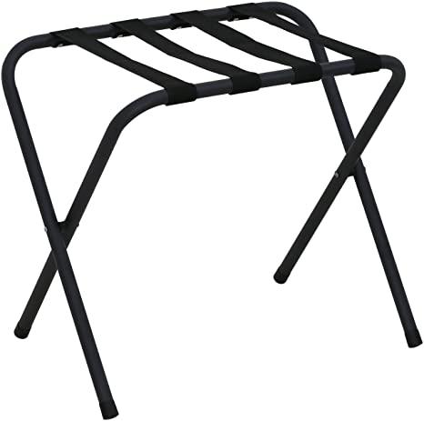 7. Furinno Foldable Luggage Rack, Black