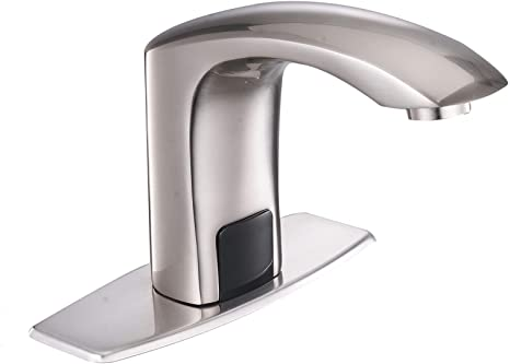4. Greenspring Commercial Automatic Sensor Touchless Deck Mount Solid Brass Bathroom Sink Faucet