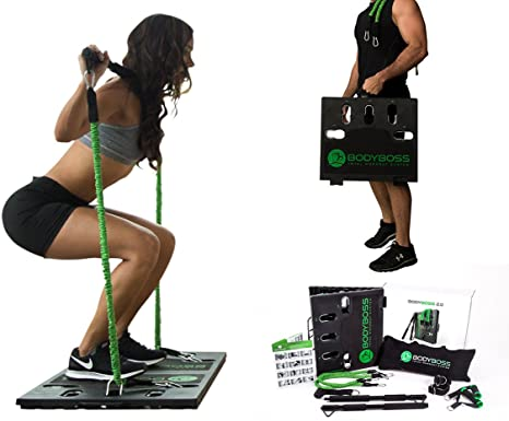 4. BodyBoss 2.0 - Full Portable Home Gym Workout Package