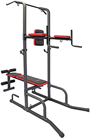 5. Health Gear CFT2.0 Functional Fitness Gym Style Training Power Tower & Adjustable Workout Bench System