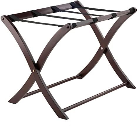 1. Winsome Scarlett Cappuccino Luggage Rack