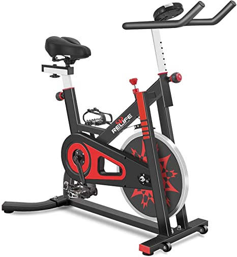10. RELIFE REBUILD YOUR LIFE Exercise Bike Indoor Cycling Bike