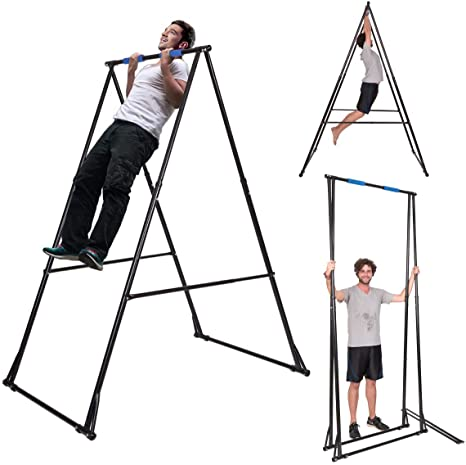 2. KT Toes Don't Touch Ground Foldable Free Standing Pull Up Bar