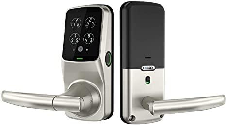 6. Lockly Fingerprint Bluetooth Keyless Entry Door Smart Lock