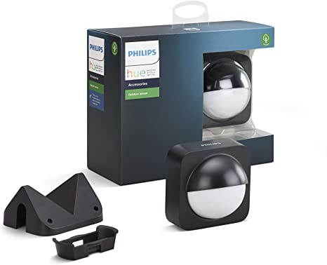 4. Philips Hue Dusk-to-Dawn Outdoor Motion Sensor for Smart Home, Wireless & Easy to Install