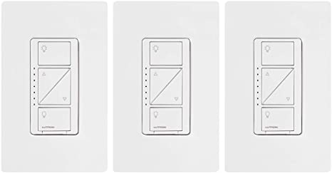 7. Lutron Caseta Smart Home Dimmer Switch (3 Count)