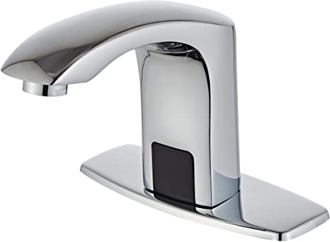 9. Luxice Sensor Automatic Touchless Bathroom Sink Faucet Hot & Cold Mixer Cover Plate Included Faucet