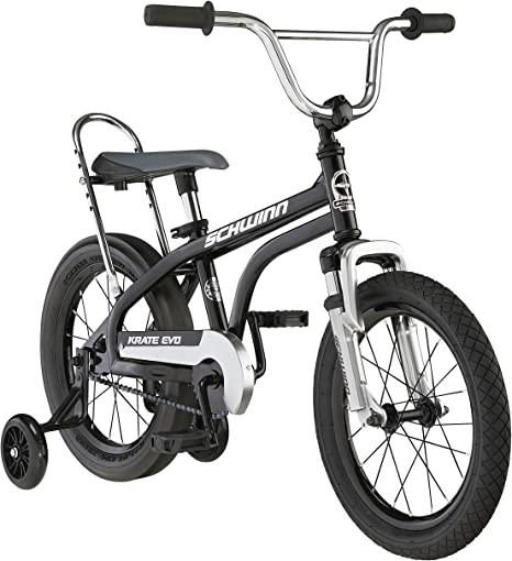 1. Schwinn Krate Evo Classic Kids Bike, 16-Inch Wheels, Boys and Girls