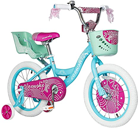 8. LPP Boys Girls Kids Bike 12 14 16 18 Inch Kids Bike with Training Wheels, 18 20 Inch Kids Bicycle with Kickstand and Hand Brake