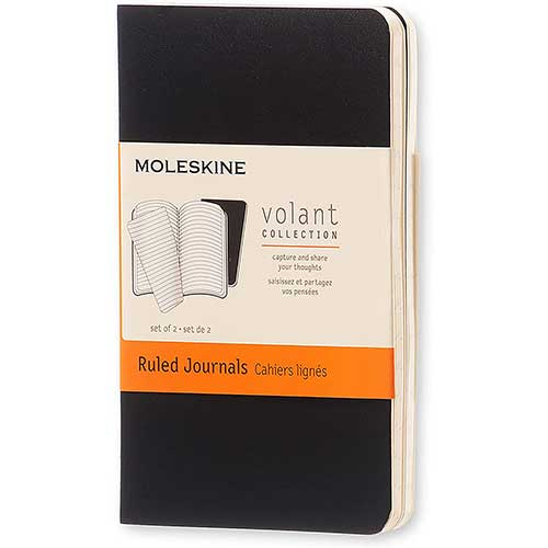 5. Moleskine Volant Journal, Soft Cover, XS (2.5