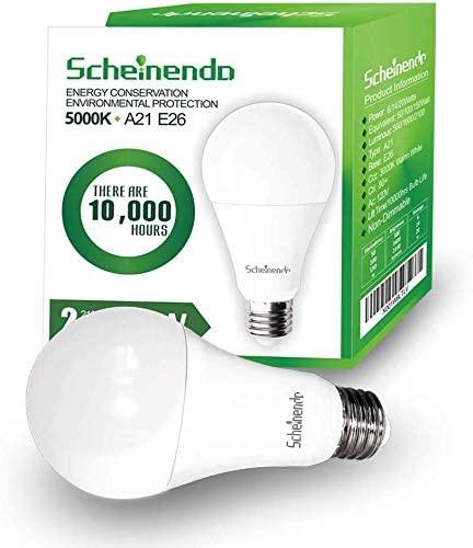 7. 3-Way Led Light Bulbs 50/100/150 Watt Equivalent, 5000K Daylight White, A21 LED Bulbs 2100LM, E26 Base-2 Packs
